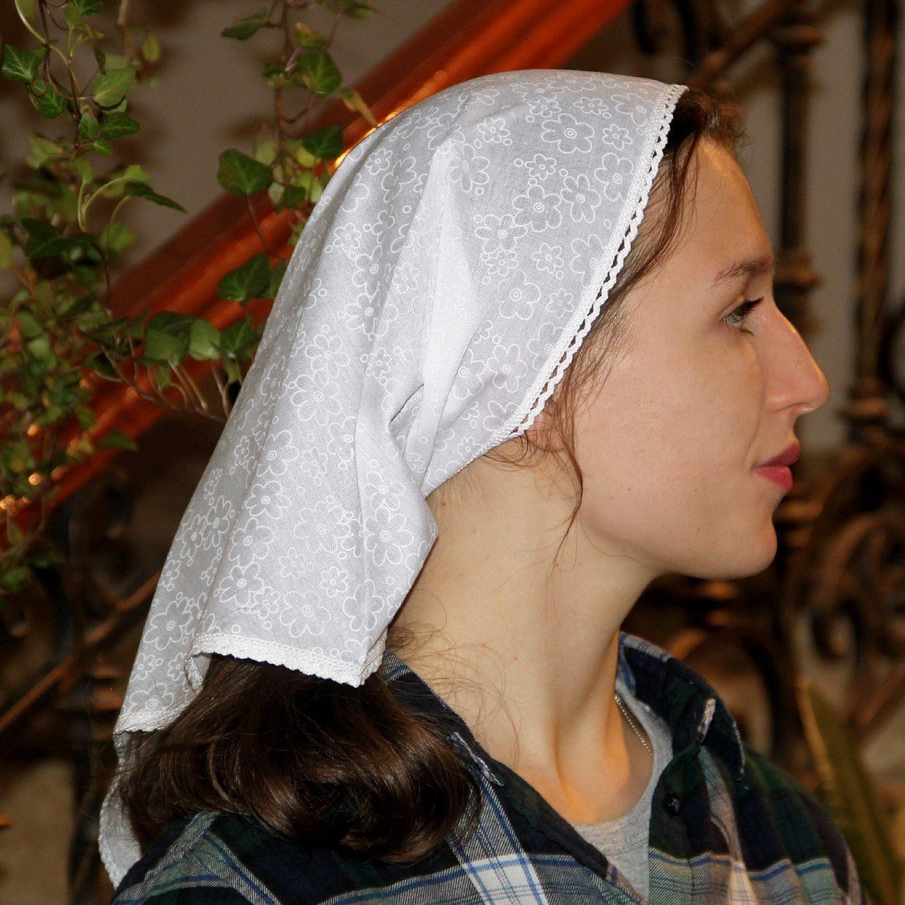 Как сшить платок для храма - МирТесен 27