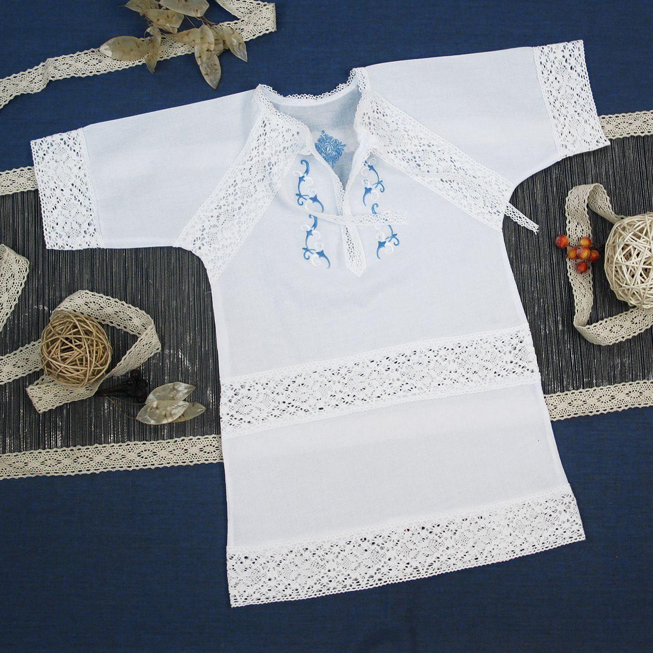 Вышивка на крестильной рубашке девочке 49